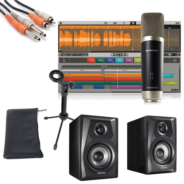 M-Audio Vocal Studio Personal Recording Studio with Tascam VL-S3 Monitors and Cables