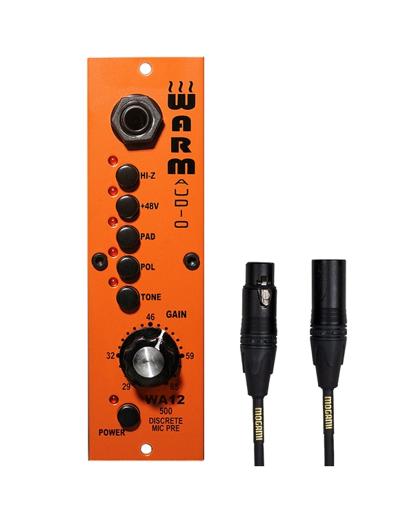 Warm Audio WA12/500 500 Series Microphone/Instrument Preamp with 15 ft Mogami XLR Cable