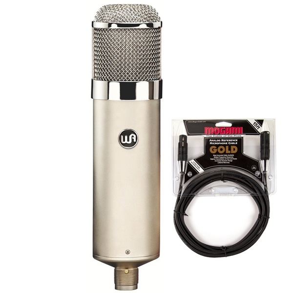 Warm Audio WA-47 Large-Diaphragm Tube Condenser Microphone with 15ft Mogami Gold Studio XLR Cable
