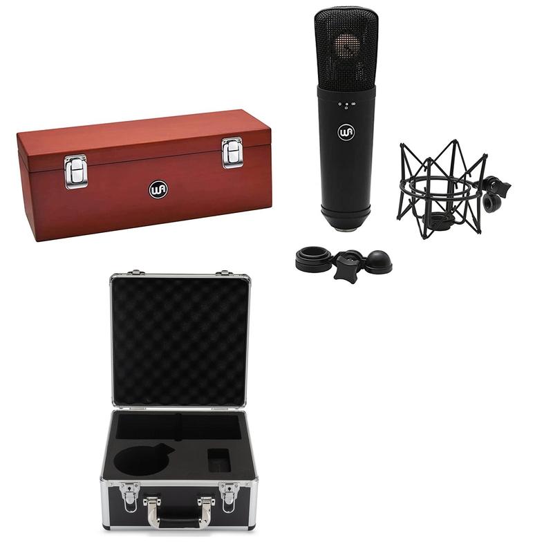 Warm Audio WA-87 R2 Black Multi-Pattern FET Condenser Microphone w/ Case
