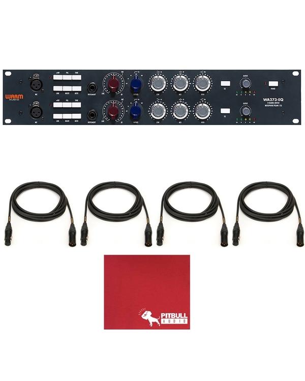 Warm Audio WA273-EQ Mic/Line/Instrument Preamp & EQ with (4) Mogami Gold XLR Cables