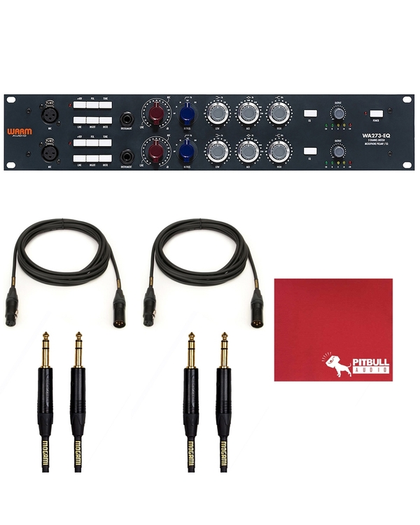 Warm Audio WA273-EQ Mic/Line/Instrument Preamp & EQ with Mogami Gold 1/4
