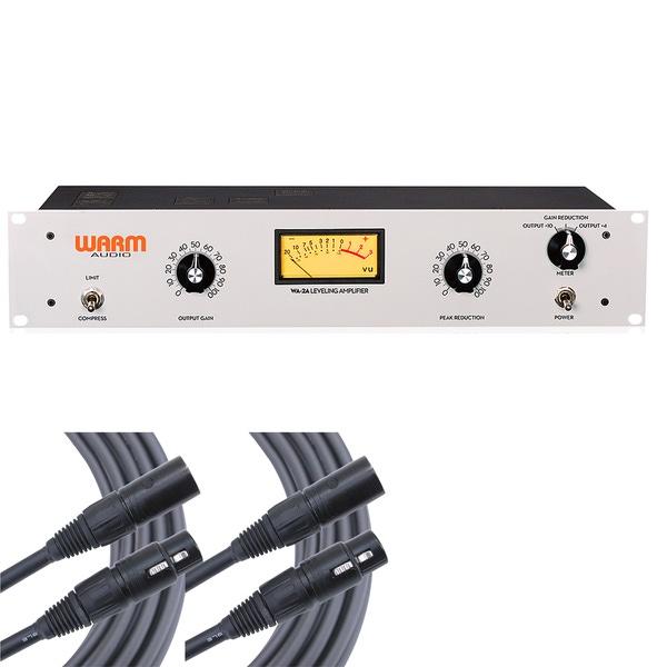 Warm Audio WA-2A Tube Optical Compressor/Limiter & Mogami XLR Cables