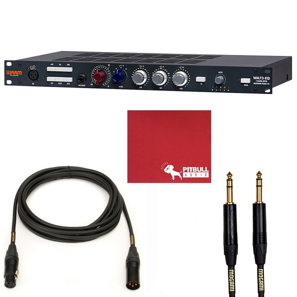 Warm Audio WA73-EQ 1-Channel British Microphone Preamp & EQ with 15' XLR and 10' TRS Mogami Cables