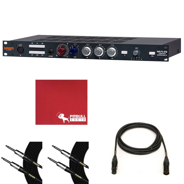Warm Audio WA73-EQ 1-Channel British Microphone Preamp & EQ with 15' XLR and 10' TS Mogami Cables