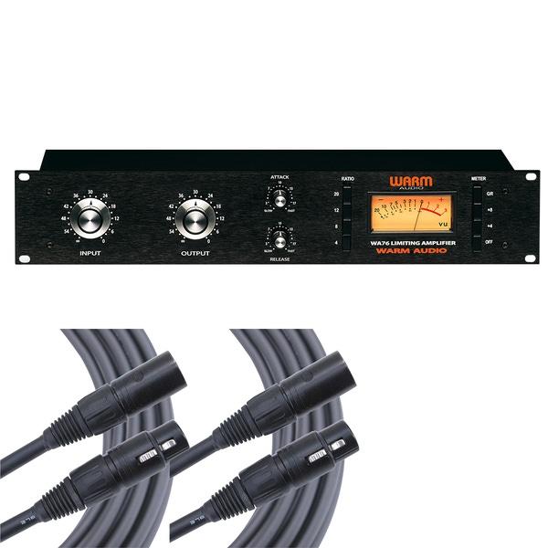 Warm Audio WA76 Discrete FET Compressor with Mogami I/O Cables