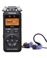 Westone UM PRO 10 Blue Earphones and Tascam DR-05 Version 2 Recorder