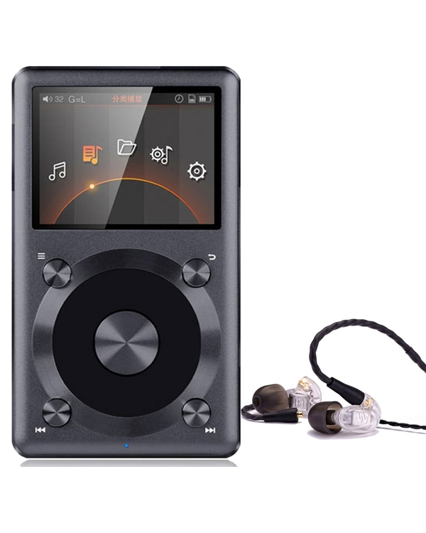 FiiO X3 II 2nd Generation High-Res Audio Player Black and Westone UM PRO 10 Clear Earphones