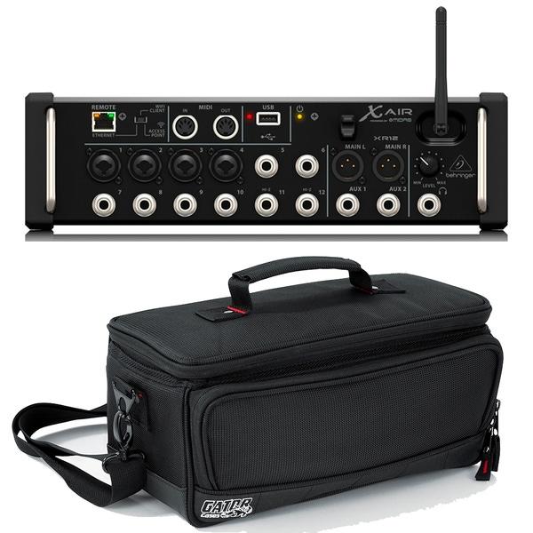Behringer X Air XR12 12-Input Digital Mixer & Gator G-MIXERBAG-1306 Padded Carry Bag