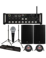 "Behringer XR12 Digital Mixer + Mackie Thump 15A 1300W 15"" Powered Speakers"