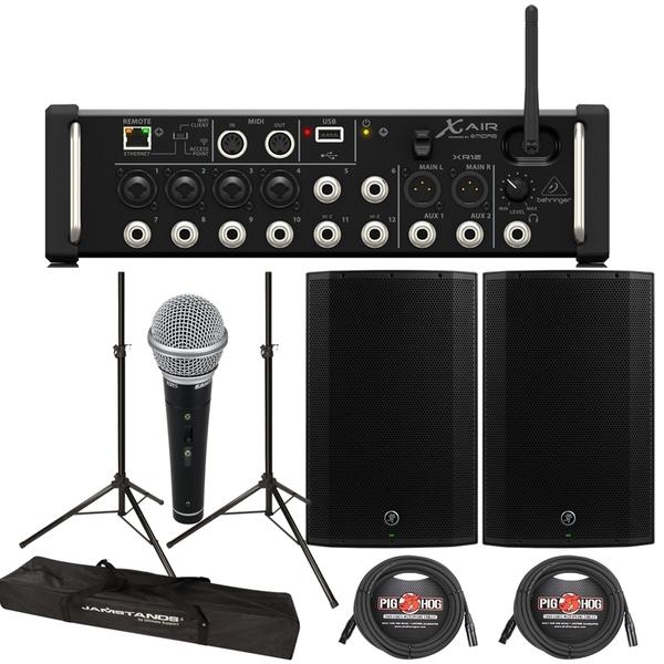 Behringer XR12 Digital Mixer + Mackie Thump 15A 1300W 15