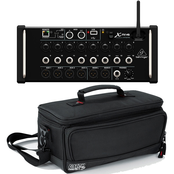 Behringer X Air XR16 16-Input Digital Mixer & Gator G-MIXERBAG-1306 Padded Carry Bag