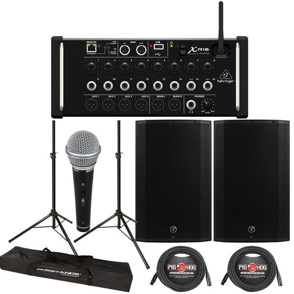 Behringer XR16 Digital Mixer + Mackie Thump 15A 1300W 15