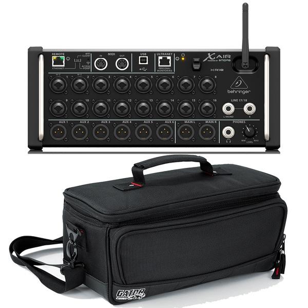 Behringer X Air XR18 18-Input Digital Mixer & Gator G-MIXERBAG-1306 Padded Carry Bag