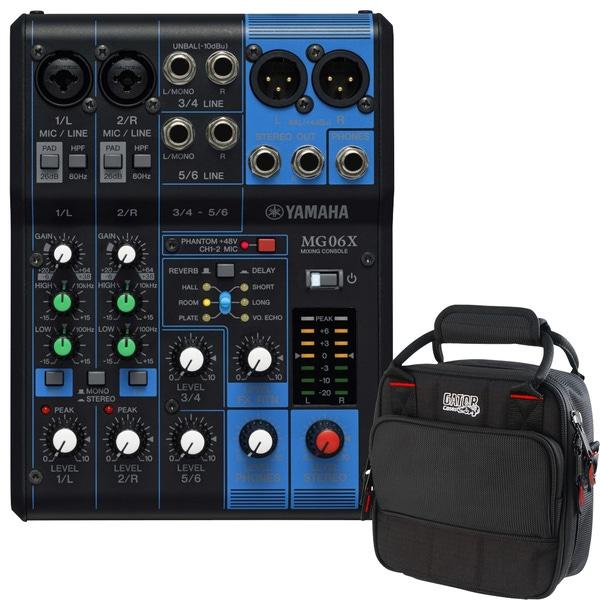 Yamaha MG06X 6-Channel Mixer and Padded Mixer Bag
