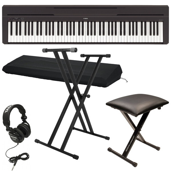 Yamaha P-45 88-Key Digital Piano with Bench, Stand, Headphones, Dust Cover