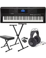 Yamaha PSR-EW400 76-Key Portable Keyboard with Headphones, Stand, Bench and Sustain Pedal