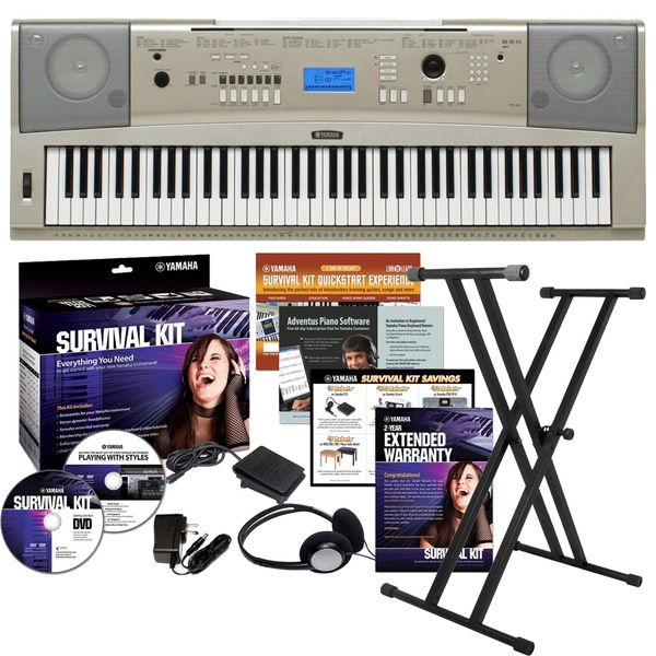 Yamaha YPG-235 76-key Keyboard with Survival Kit B2 and Stand