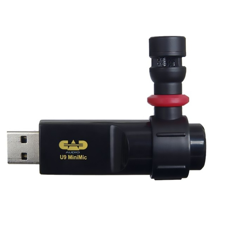 CAD Audio U9 USB Cardioid Condenser Mini Mic Podcasting Microhone w/ Headphone Jack