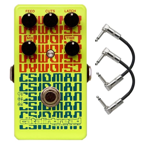 Catalinbread CSIDMAN Glitch/Stutter Guitar Effects Pedal with Patch Cables