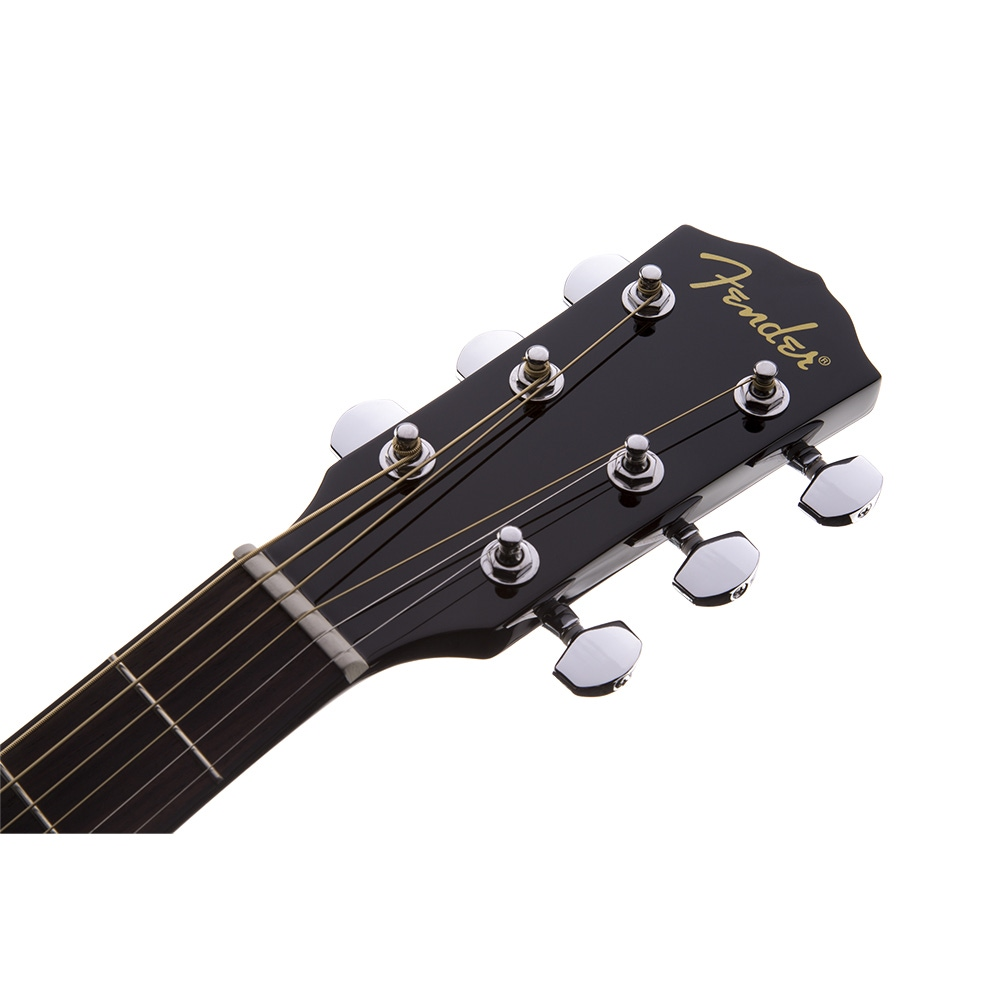 pitbull audio fender cd 60 dreadnought acoustic guitar with hard case black. Black Bedroom Furniture Sets. Home Design Ideas