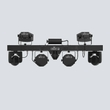 Chauvet GigBAR Move 5-in-1 Lighting Bar w/ Moving Heads, Derbies, Washes, Laser, Strobe