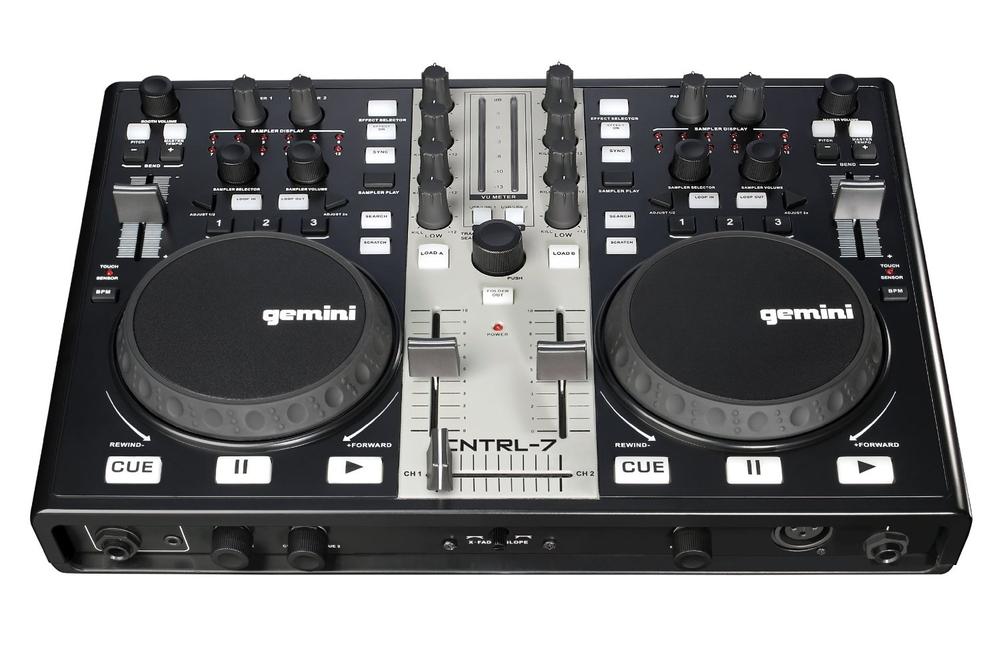 Gemini CNTRL-7 USB MIDI DJ Controller with Soundcard