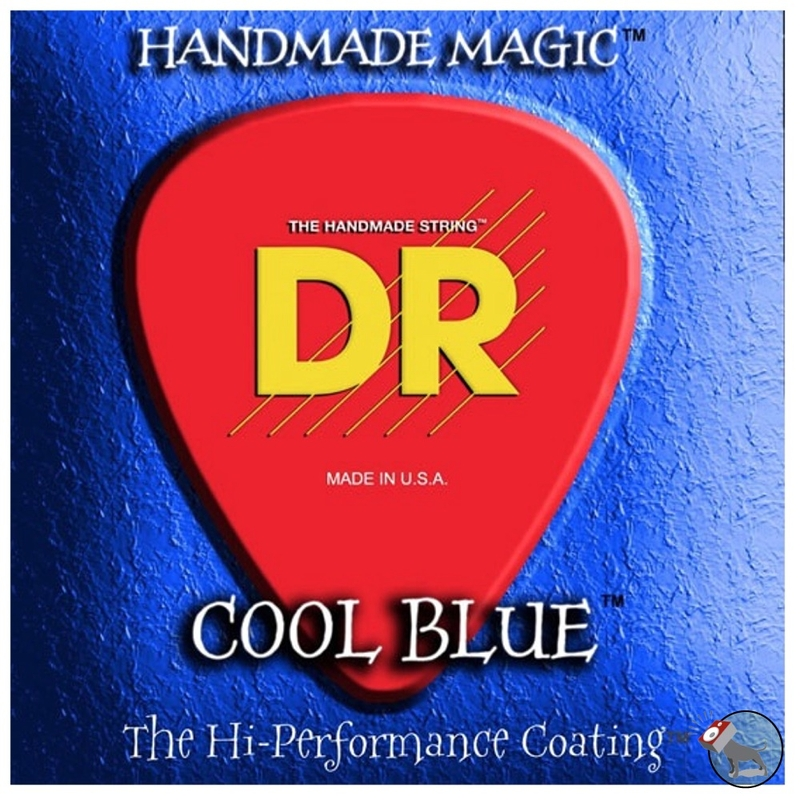 DR CBB-45 K3 Cool Blue Coated Electric Bass Strings (45-105)