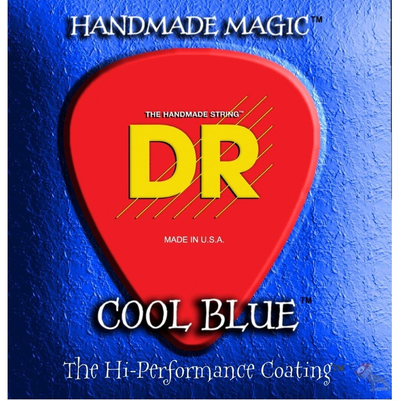 DR Strings CBE-10 Cool Blue K3 Coated Electric Guitar Strings (10-46)