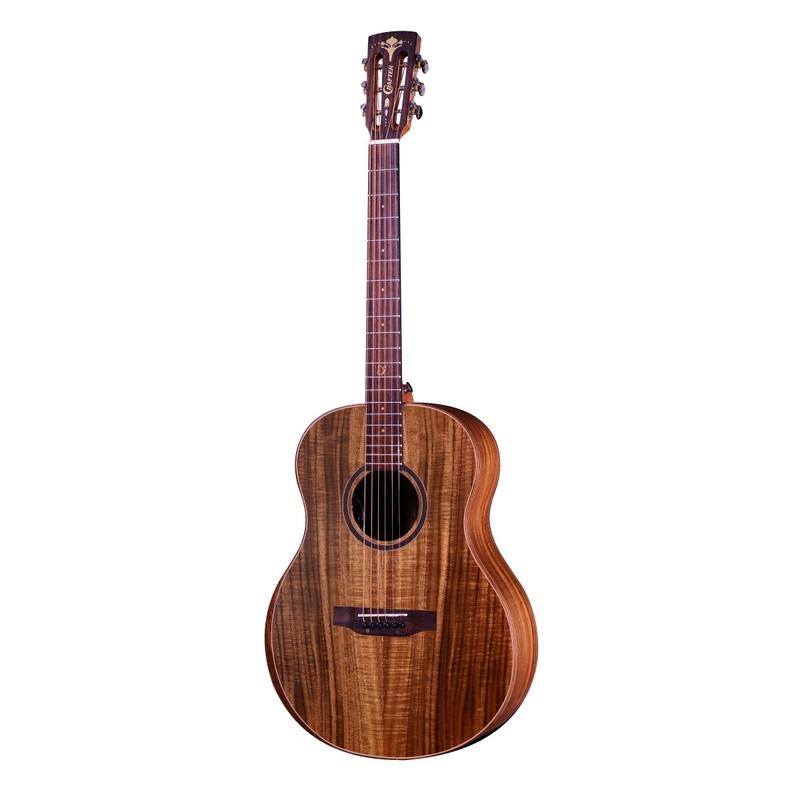 Crafter BIG-MINO-ALK Acoustic Electric Guitar, Rosewood Fretboard, All Koa Body
