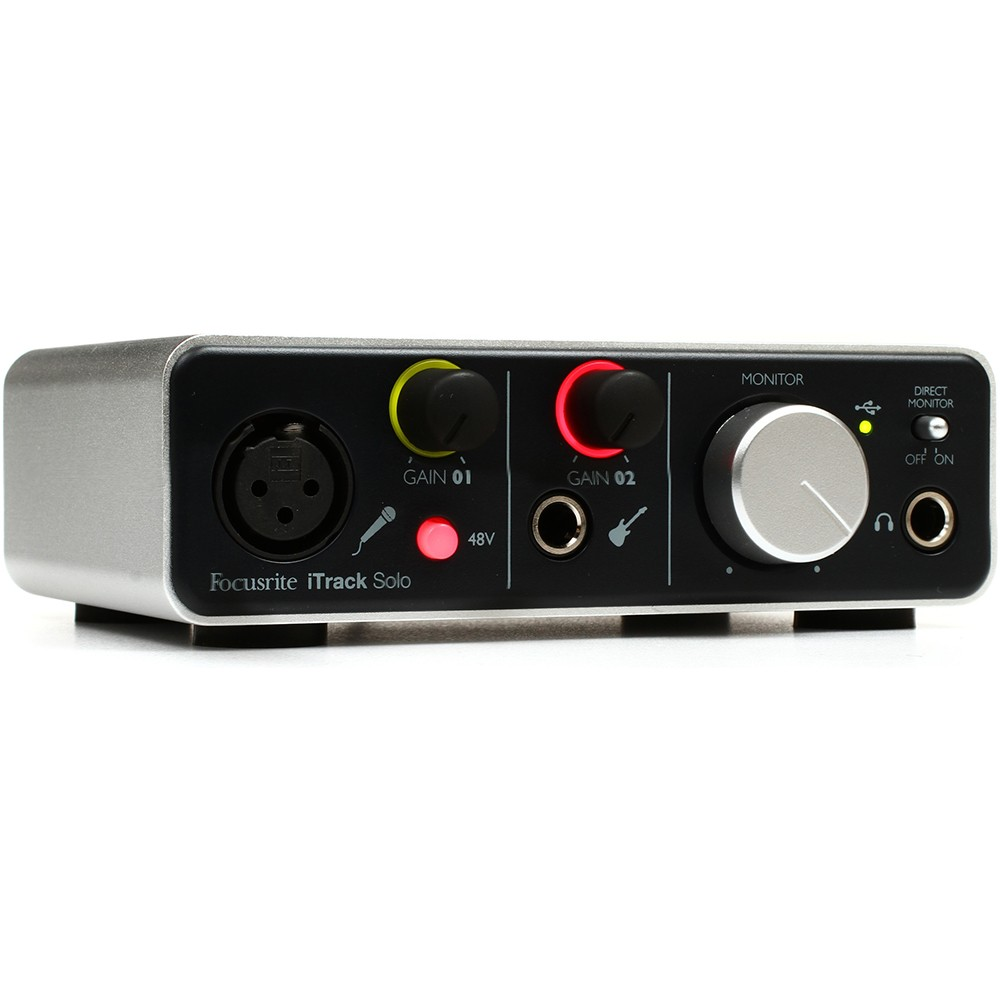 focusrite itrack solo 2x2 ios audio interface with lightning connectivity. Black Bedroom Furniture Sets. Home Design Ideas
