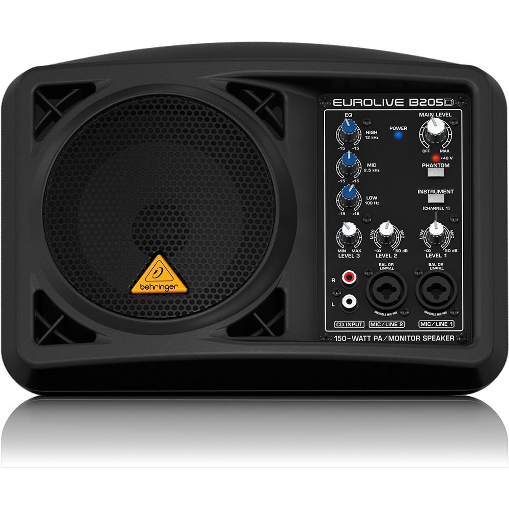 behringer eurolive b205d active pa and monitor speaker. Black Bedroom Furniture Sets. Home Design Ideas