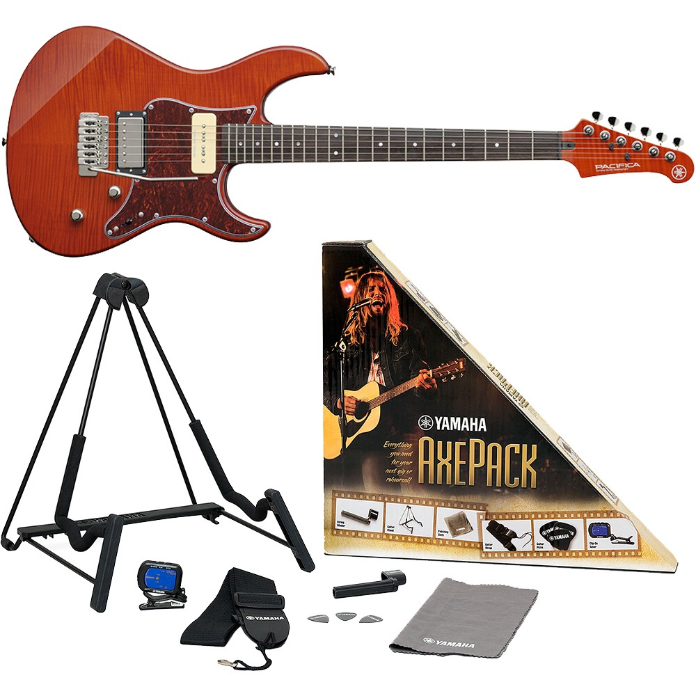 yamaha pac611vfm cb pacifica electric guitar caramel brown with accessory pack. Black Bedroom Furniture Sets. Home Design Ideas
