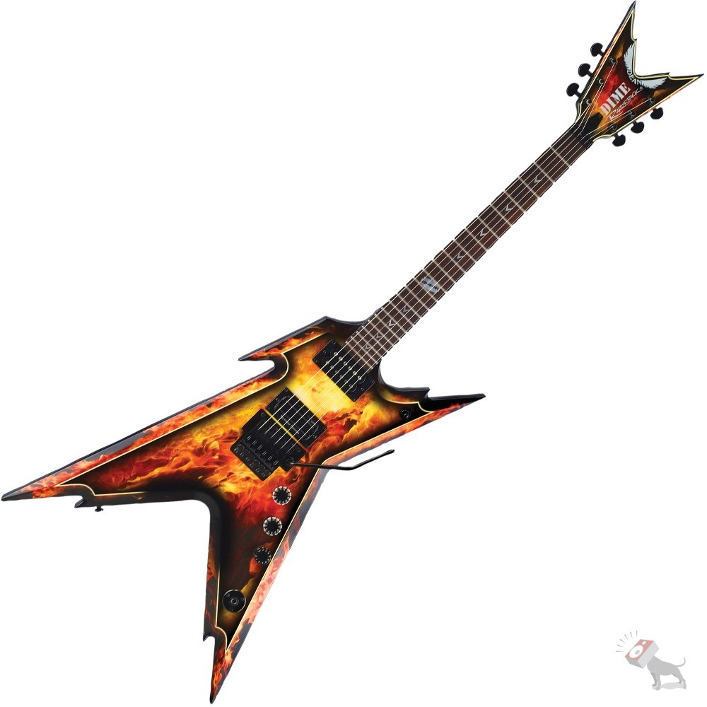 dean dimebag darrell razorback explosion signature electric guitar graphic finish with hard case. Black Bedroom Furniture Sets. Home Design Ideas
