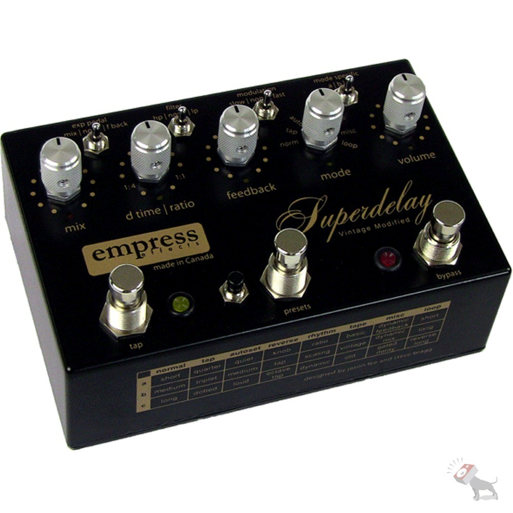 empress vintage modified superdelay delay guitar effects pedal w power supply. Black Bedroom Furniture Sets. Home Design Ideas