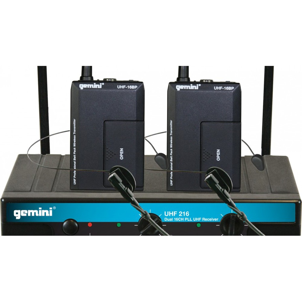 gemini uhf 216m dual channel wireless handhel microphone. Black Bedroom Furniture Sets. Home Design Ideas