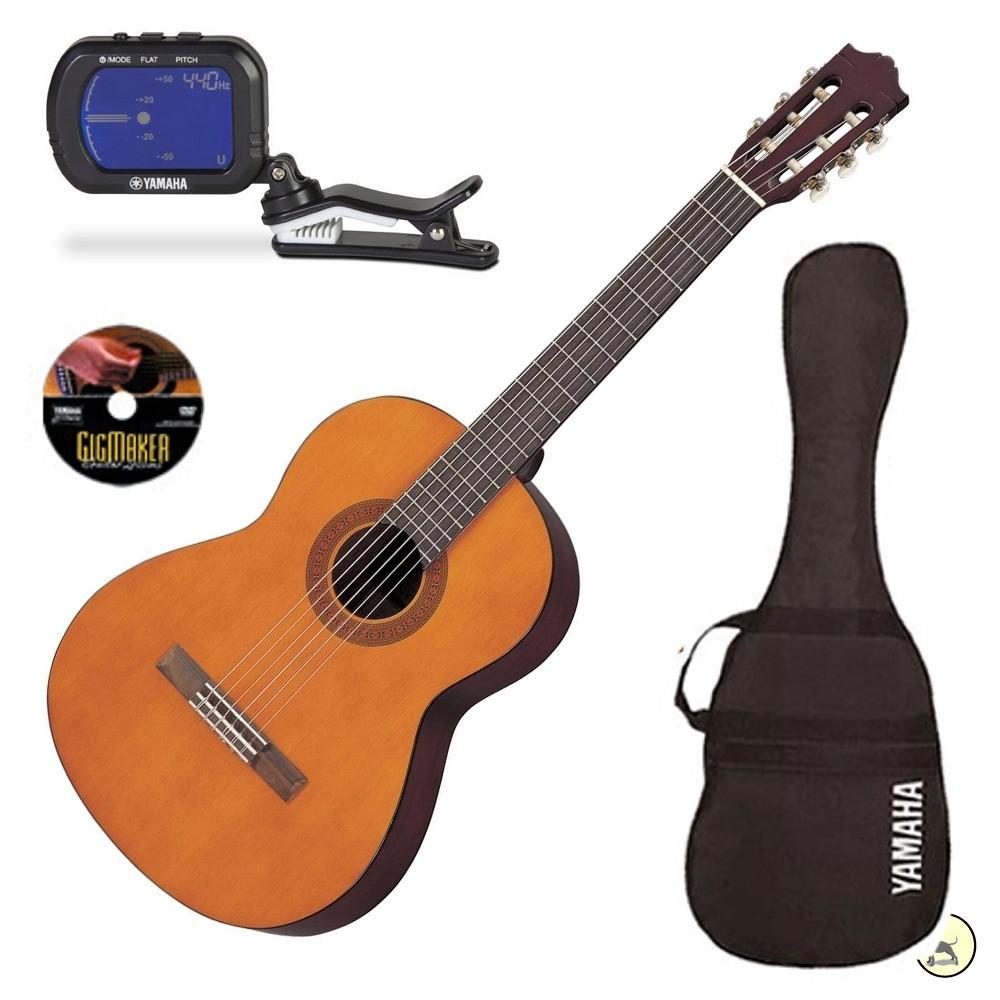 yamaha gigmaker c40 classical acoustic nylon string guitar pack natural tuner guitar beginner. Black Bedroom Furniture Sets. Home Design Ideas