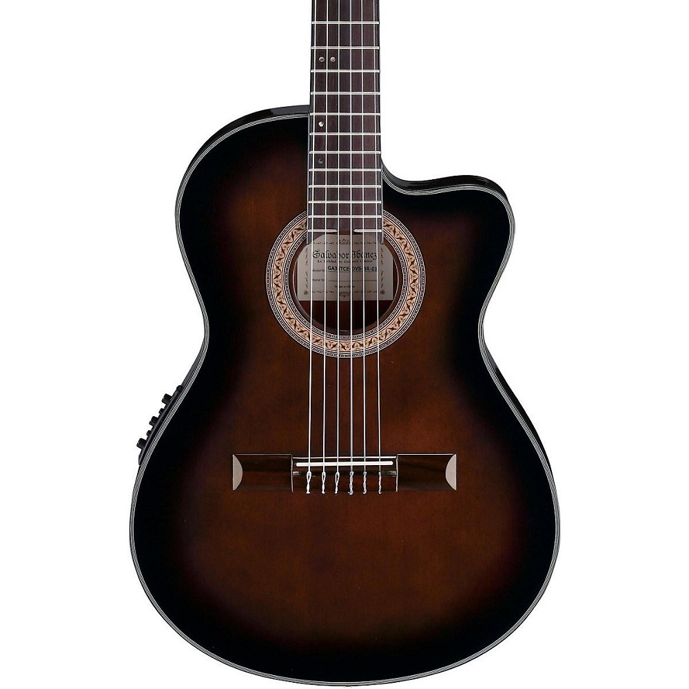 ibanez ga35tce dvs classical thinline nylon string acoustic electric guitar dark violin burst. Black Bedroom Furniture Sets. Home Design Ideas