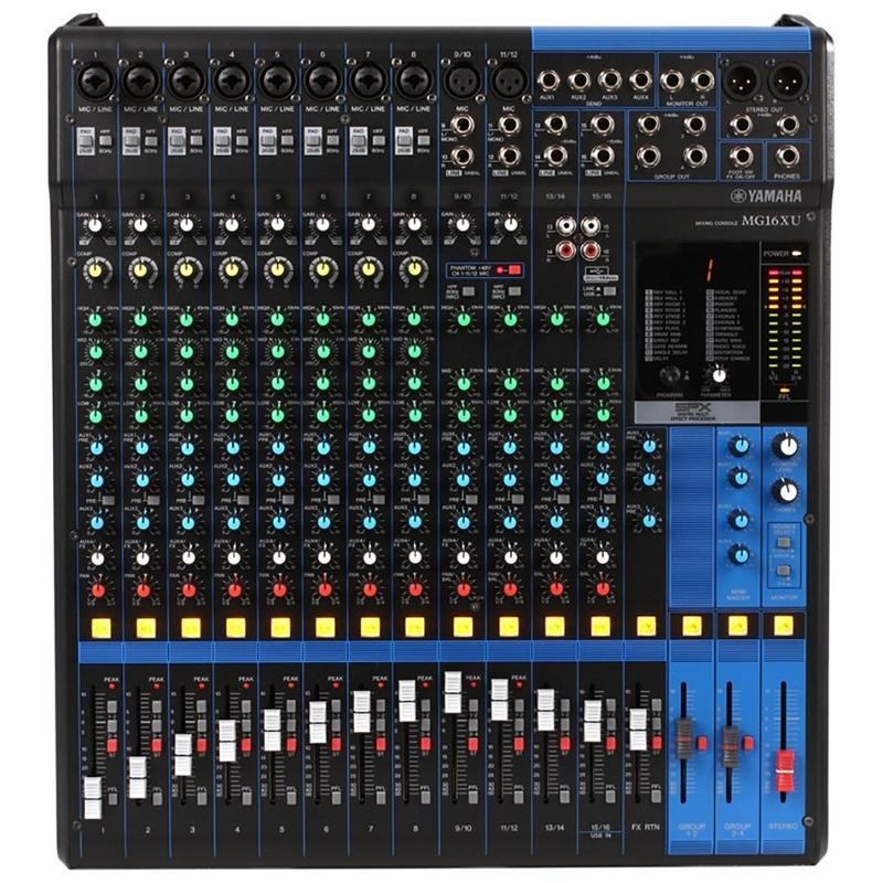Yamaha MG Series MG16XU 16 Channel Mixer Mixing Console Compressor Effects