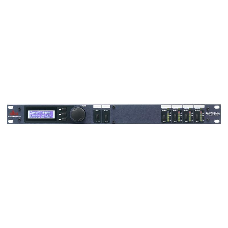 dbx ZonePRO 640 6-Input / 4-Output Digital Zone Processor