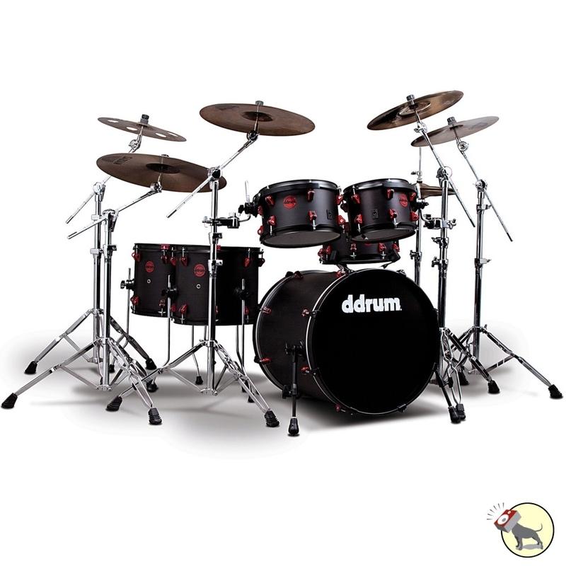 ddrum Hybrid 6 Piece Acoustic Drum Kit Set with Built-In Triggers