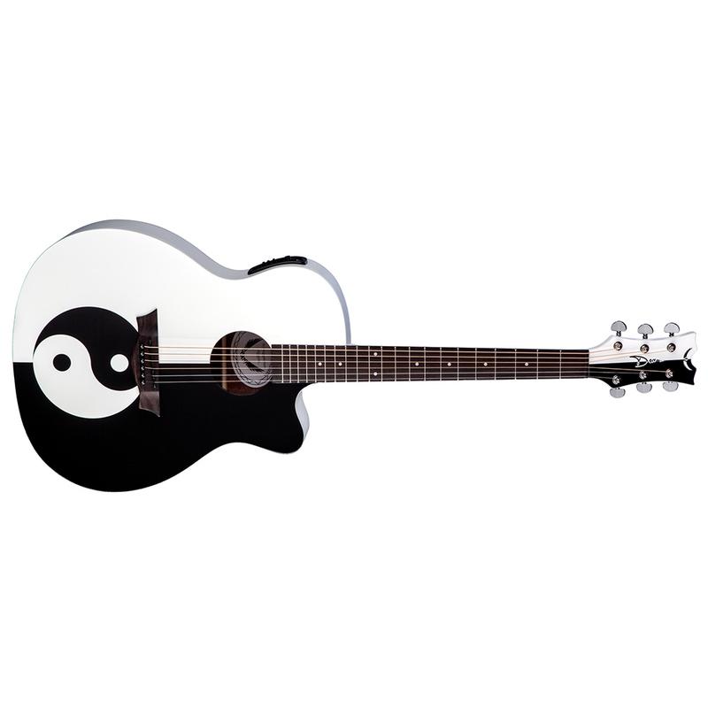 Dean MSP Michael Schenker Performer Acoustic-Electric Guitar - Yin Yang Graphic