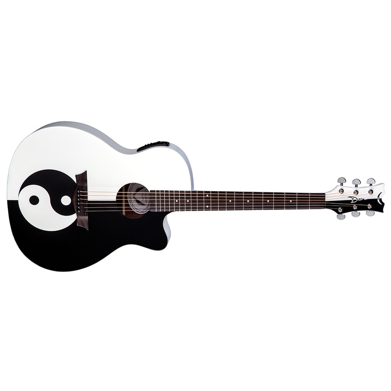 Dean MSP Michael Schenker Performer Acoustic-Electric Guitar - Yin Yang Graphic