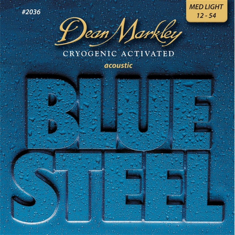 Dean Markley 2036 Blue Steel Medium Light Acoustic Guitar Strings (12-54)