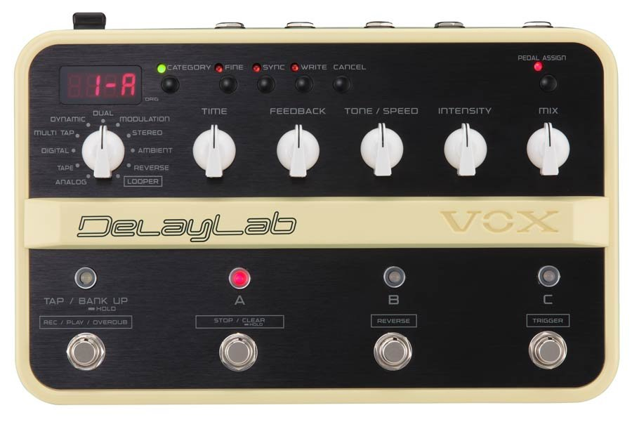 Vox DelayLab Guitar Effects Pedal 3 Loop Delay Lab