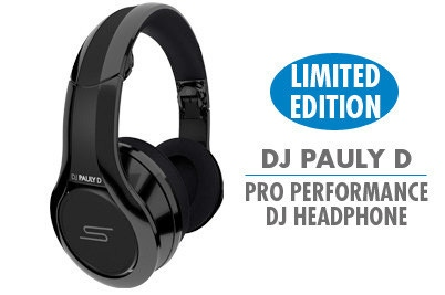 SMS Over-Ear Wired Street Headphones by 50 Cent DJ Pro Performance Pauly D LE