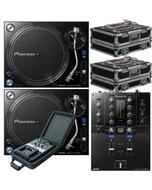 Pioneer DJM-S3 Serato Mixer + PLX-1000 Direct Drive Turntables w/ Cases & Mixer