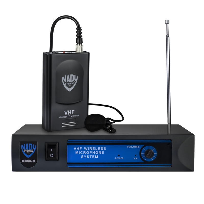 Nady DKW-3 LT Wireless Lavalier VHF Microphone System; Band B