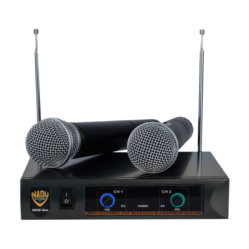 Nady DKW-DUO HT Wireless Handheld VHF Microphone System; Channel B/D