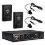 Nady DKW-DUO LT Wireless Lavalier VHF Microphone System; Channel B/D
